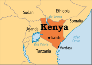 Kenya-on-map